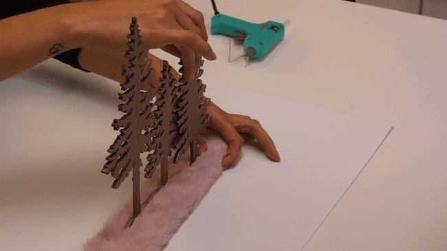 Calendrier de l'avent sapin en bois cultura
