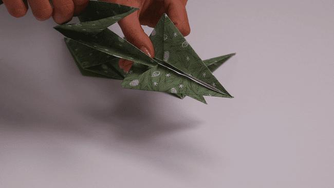 Décoration de Noel DIY Cultura - Etoile en origami