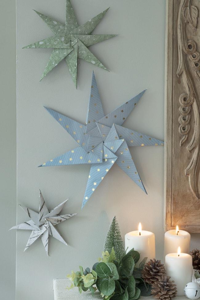 étoile origami Noël