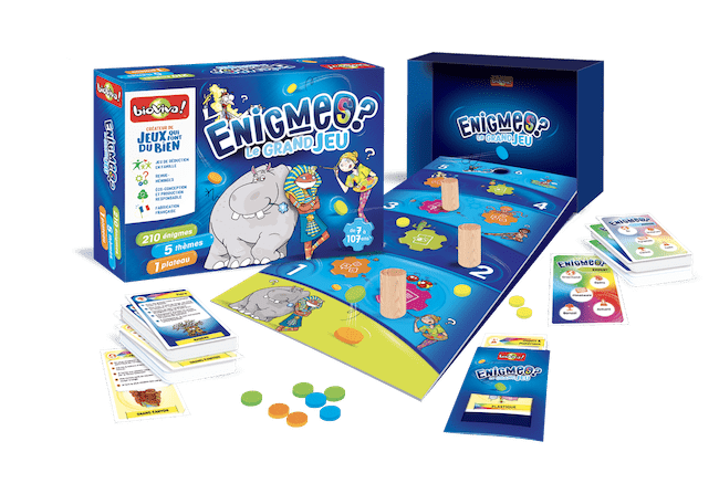 Enigmes le grand jeu Bioviva ouvert