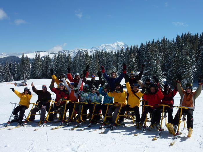 Crest Voland Ski Bob glisse insolite