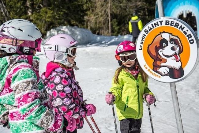 cours de ski enfants à la Rosière