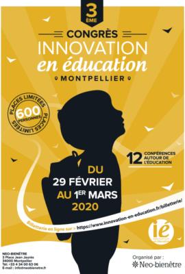congrès innovation en éducation 2020 affiche