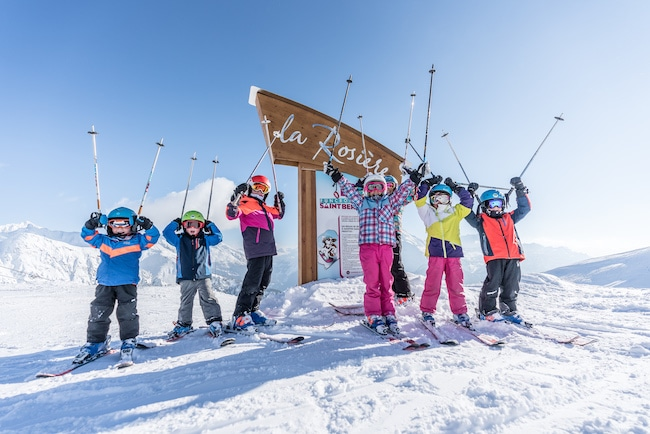 vacances à la montagne en hiver en famille à la Rosière