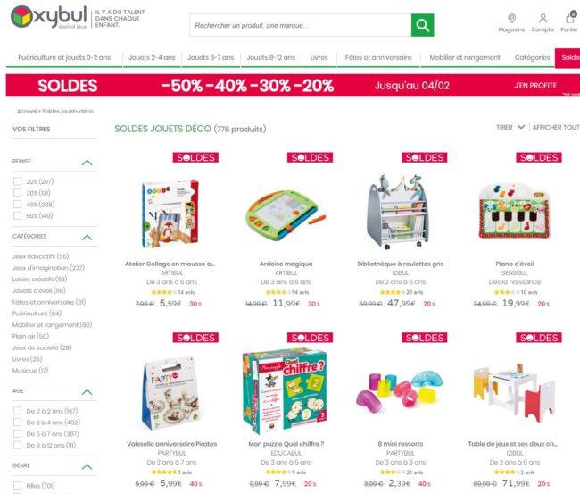 soldes jouets 2020 Oxybul