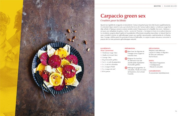 recette aphrodisiaque