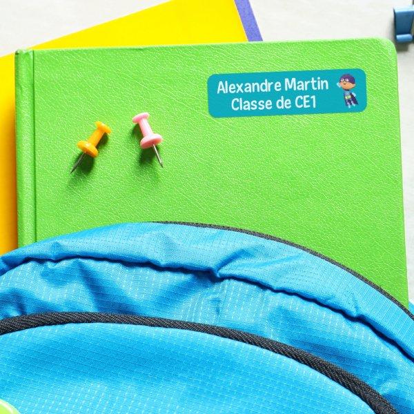 étiquettes autocollantes personnalisées fournitures scolaires