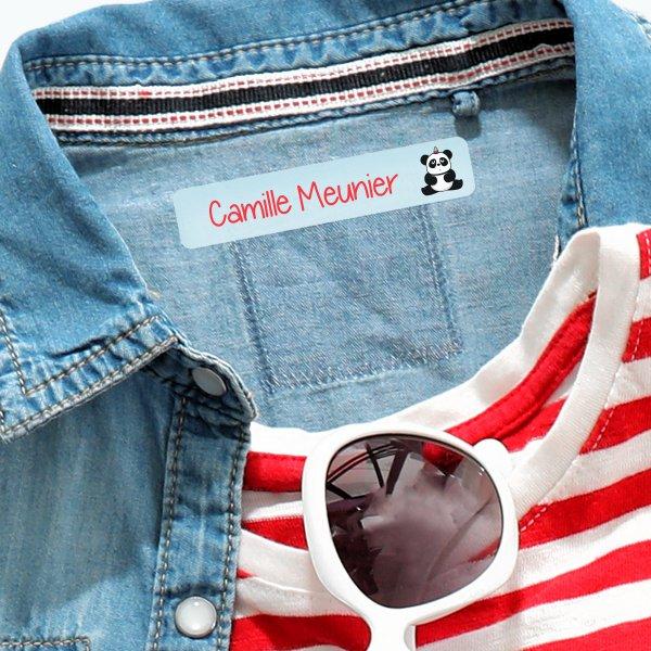 étiquettes personnalisée vêtements enfants