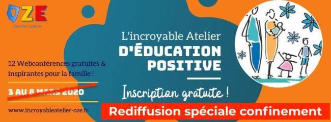 web conférences autour de l'éducation positives avec OZE