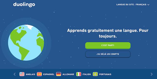duolingo apprendre une langue en ligne gratuitement