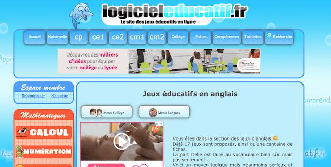 logocieleducatif site de jeux éducatifs en ligne pour enfants maternelle et primaire