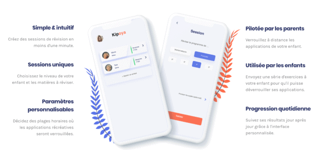 Kipoya révisions collège sur smartphone
