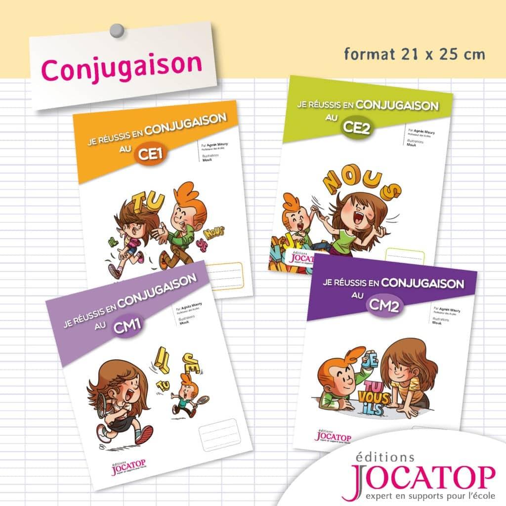 cahier d'apprentissage conjugaisons niveau primaire Jocatop