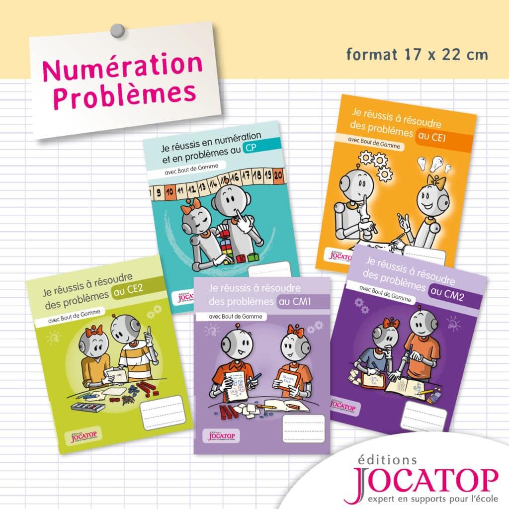 cahier d'apprentissage problèmes niveau primaire Jocatop