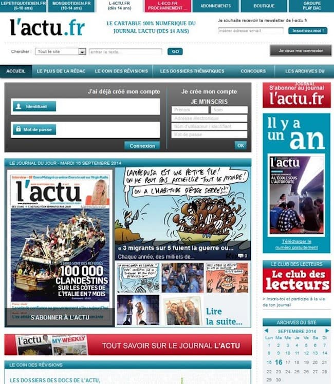 L'actu.fr cartable numérique