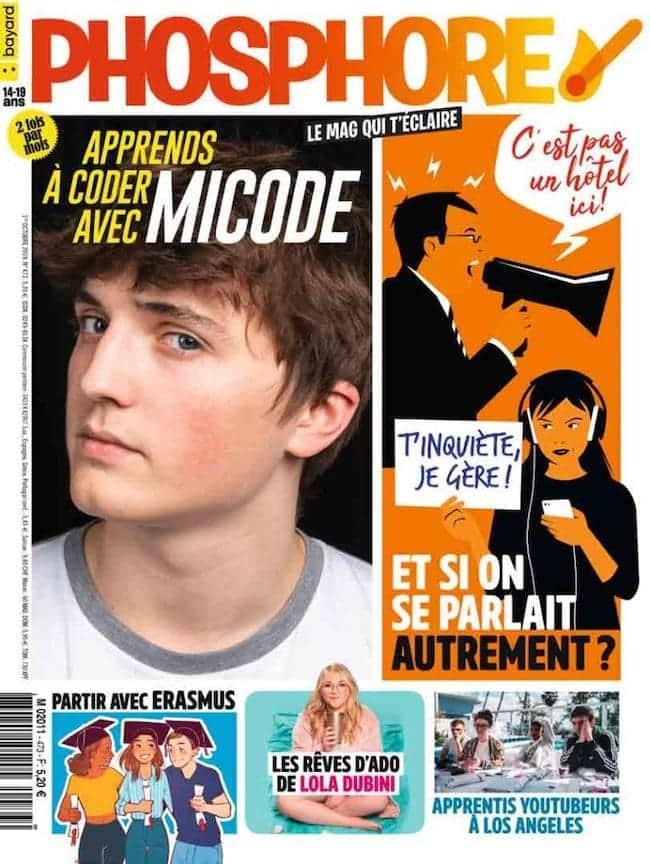 Couv Phosphore magazine pour les 14-18 ans