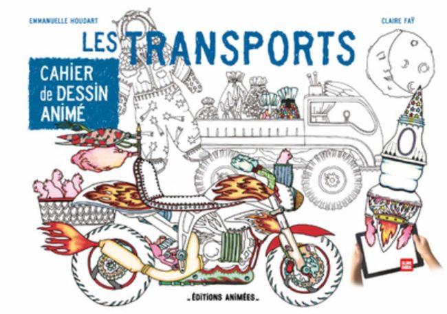 Cahier de dessin animé Les transports