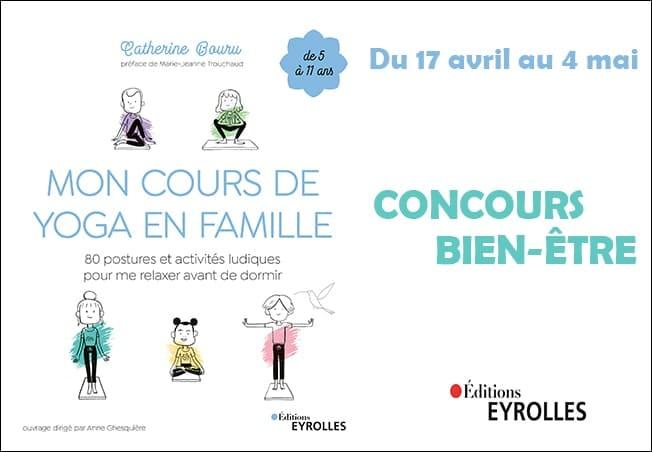 concours Eyrolles Mafamillezen Mon cours de yoga en famille