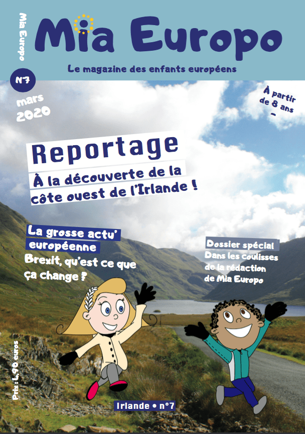 Mia Europo magazine jeunesse sur l'Europe spécial Irlande