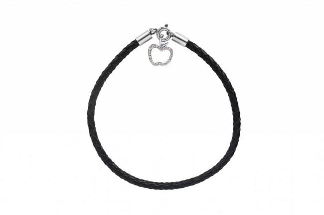 bracelet cordon strass femme