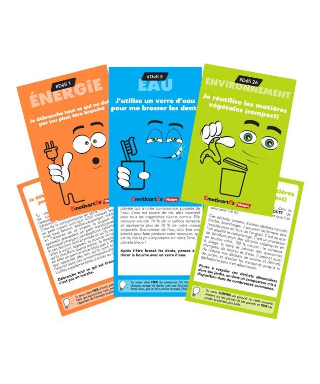 Emoticartes nature jeu de cartes éco responsable à partir de 7 ans