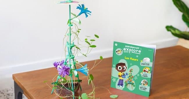apprendre en s'amusant avec Pandacraft Explore Les fleurs