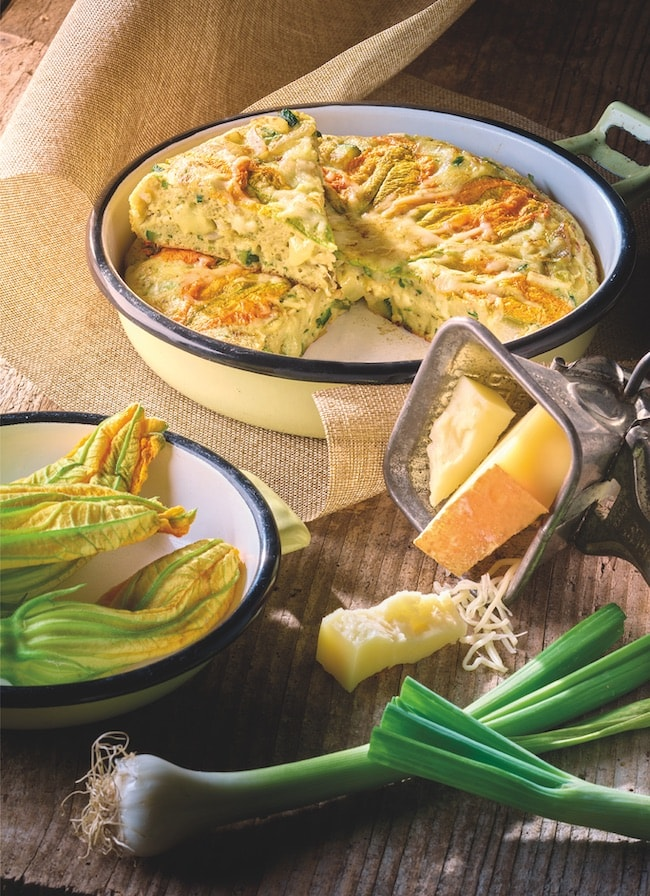 Recette frittata beaufort courgettes