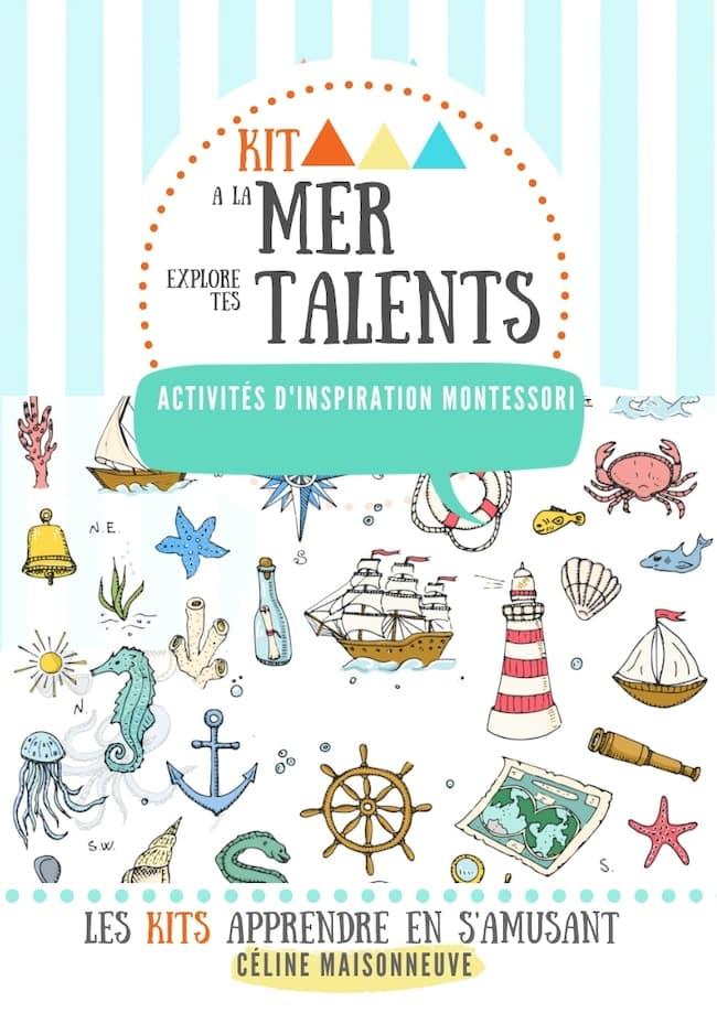 A la mer, explore tes talents, kit apprendre en s'amusant, activités Montessori
