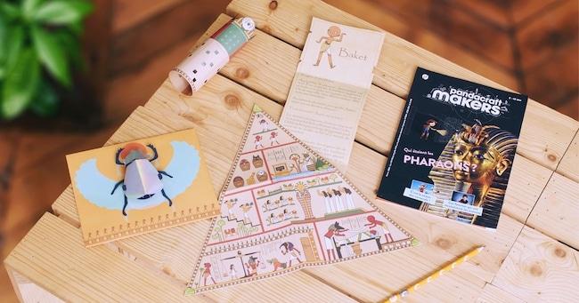 apprendre en s'amusant avec Pandacraft Makers Pharaons