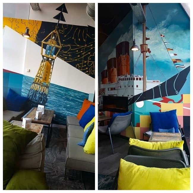 Hotel Mercure Le Havre décoré par des graffeurs havrais