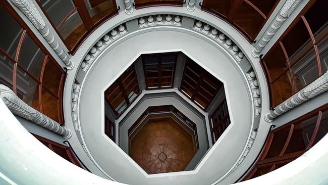 La Maison de l'Armateur, escalier octogonal, Le Havre