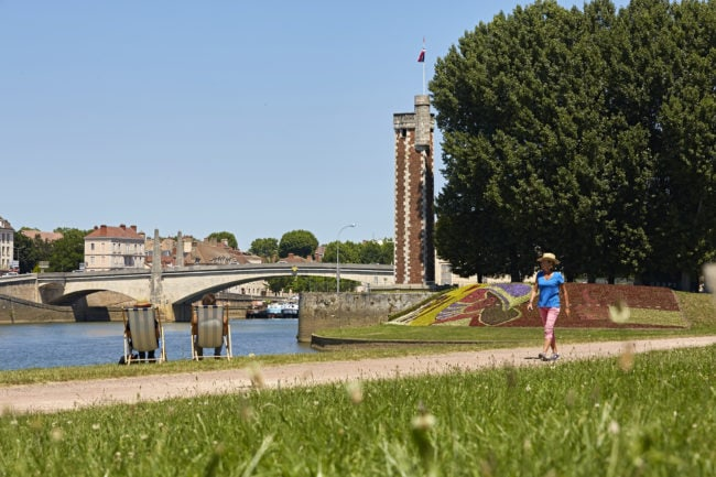 Chalon sur Saône, tour massif Saône - Photo : J.Piffaut