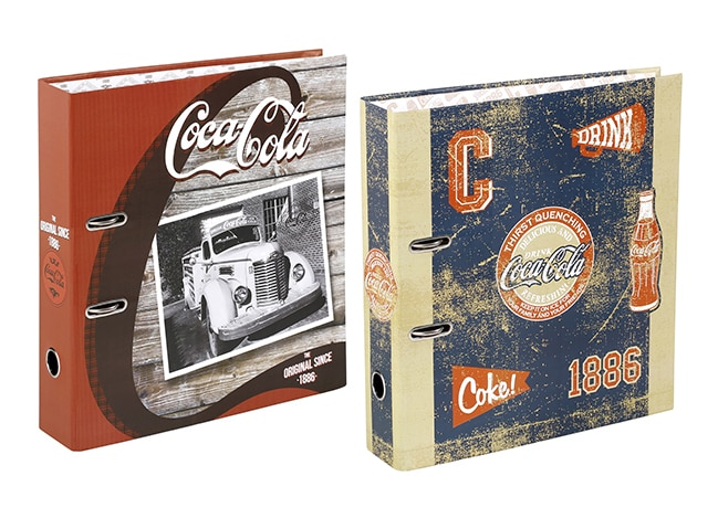 classeurs carton Coca Viquel
