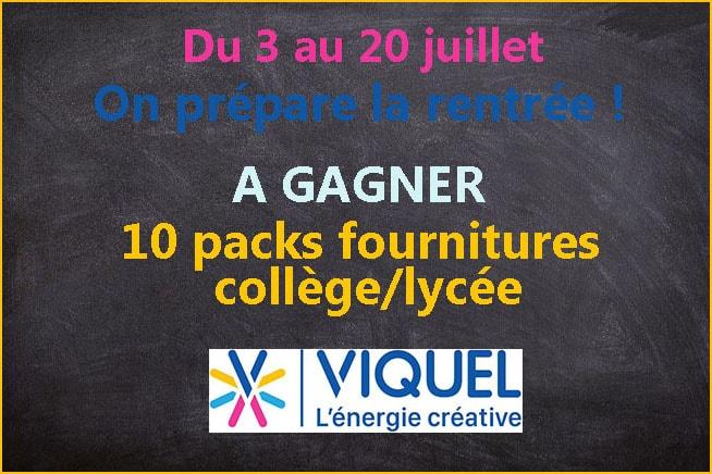 concours rentrée scolaire 2020 Viquel Mafamillezen