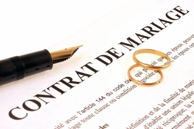 contrat de mariage pour second mariage