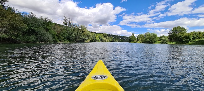 Balade en canoë sur la Seine dans le Vexin français