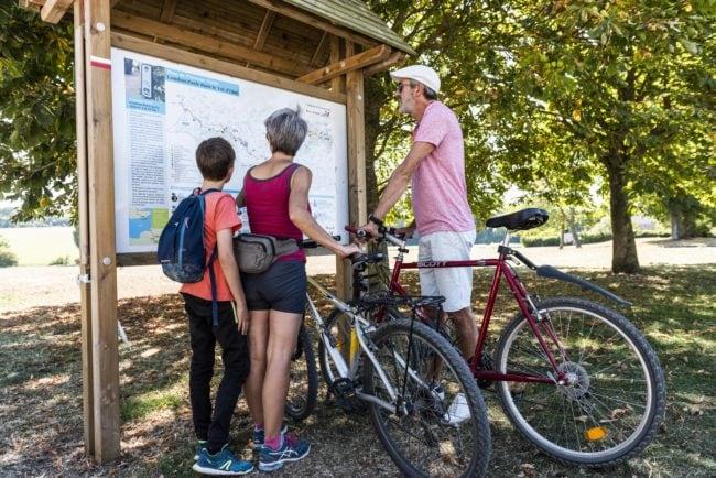 Randos à vélo en famille dans le Vexin français