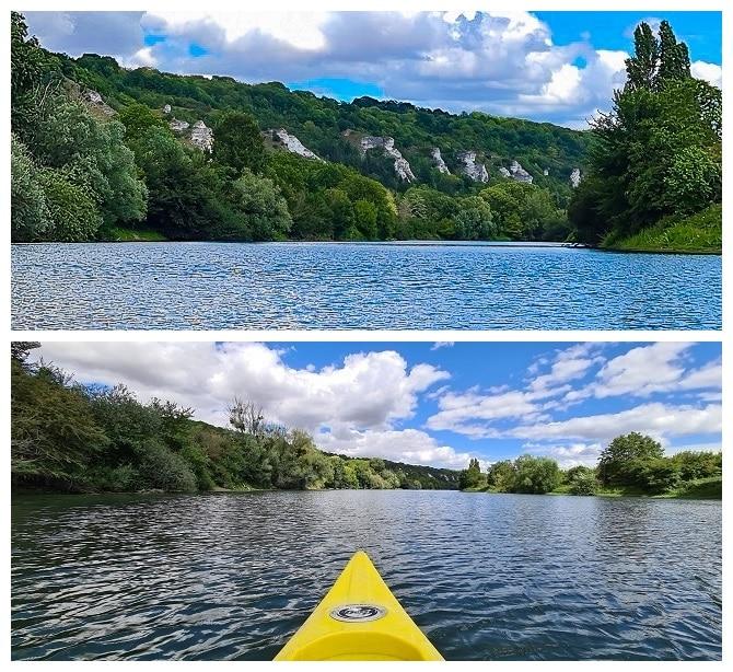 rando en canoe sur la Seine dans le Vexin
