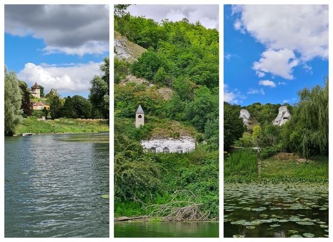 Balade en canoë sur la Seine dans le Vexin du coté de La Roche-Guyon