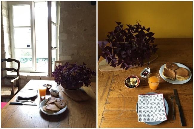 Petit déjeuner gourmand au gîte Fontaine Couture dans le Vexin
