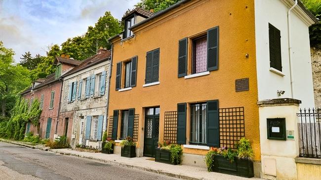 La maison du peintre Monet à Vétheuil dans le Vexin français