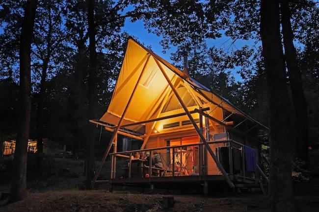 weekend en cabane en forêt au village Huttopia Senonches