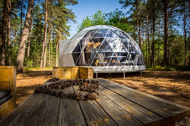 gite insolite dans une bulle en forêt en Sologne