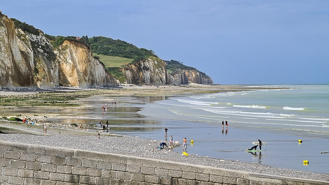 plage et falaises de Pourville-sur-Mer