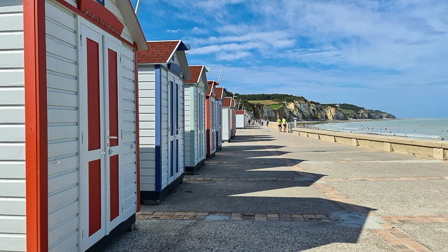 cabines de plage à Pourville-sur-Mer