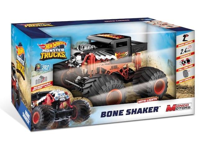 Hot Wheels Monster Truck Bone Shaker radiocommandé chez Mondo