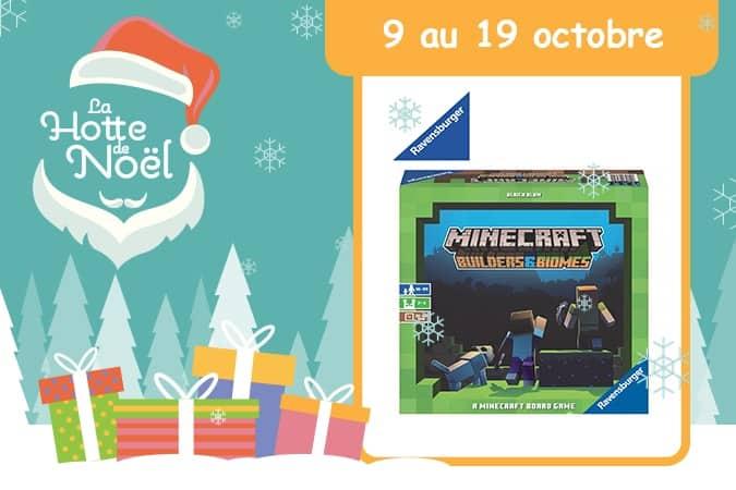 concours Ravensburger Minecraft Hotte de Noël Mafamillezen