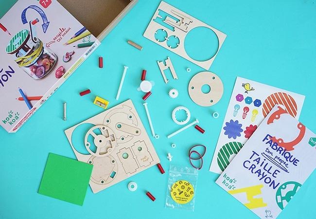 kit créatif Koa Koa, fabriquer un taille crayon