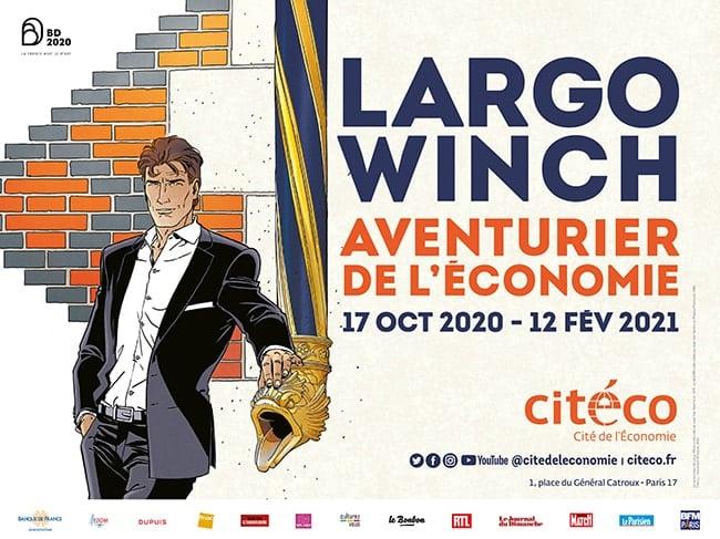 affiche expo Largo Winch Citéco