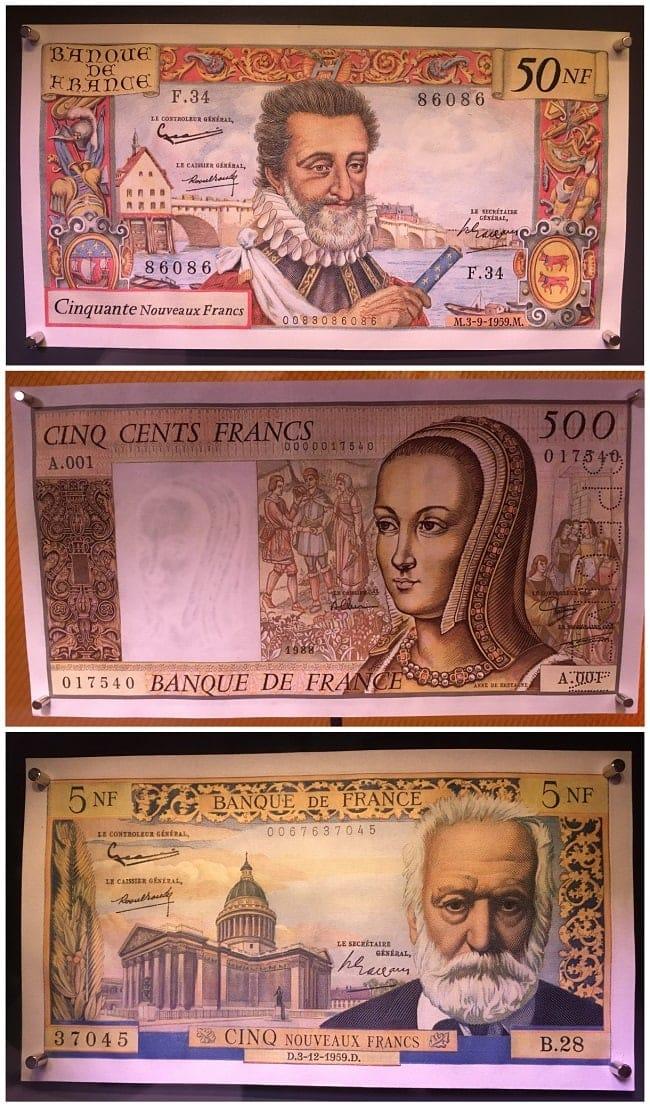 expo billets de banque anciens à Citéco